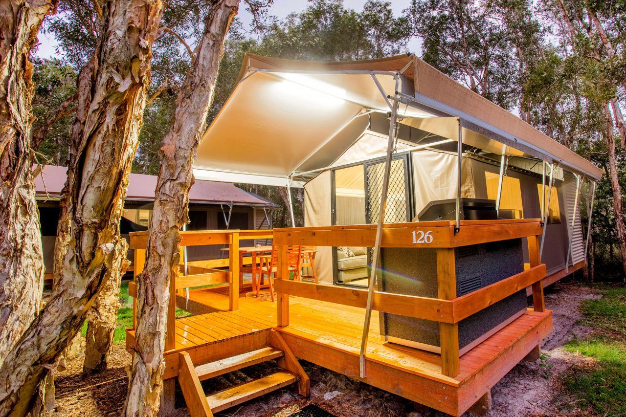 Deluxe Safari Tent Sleeps 2 Byron Bay Holiday