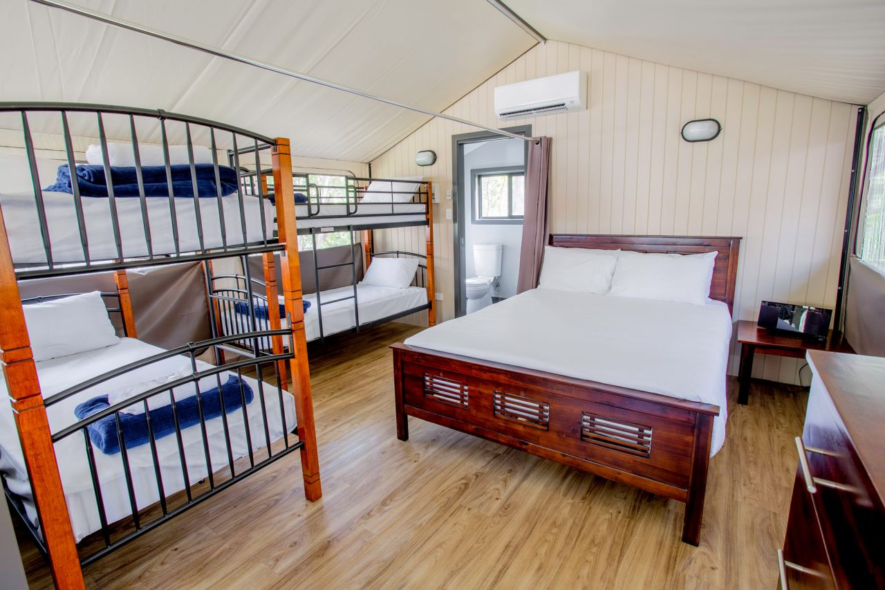 Previous & Deluxe Safari Tent (Sleeps 6) | Byron Bay Caravan Park